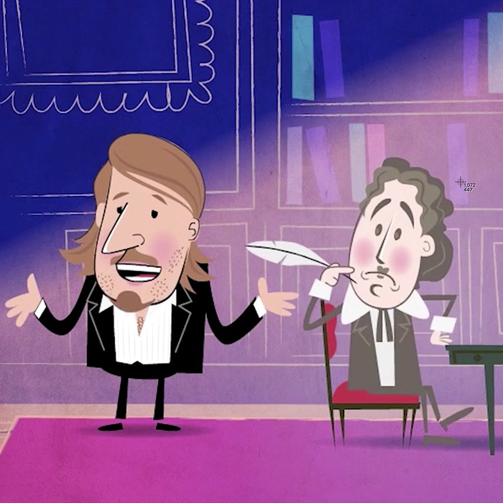 Richard Herring comedy animation thumbnail Kong Studio