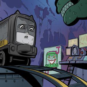 Thomas and Friends DC Super Friends Kong Studio