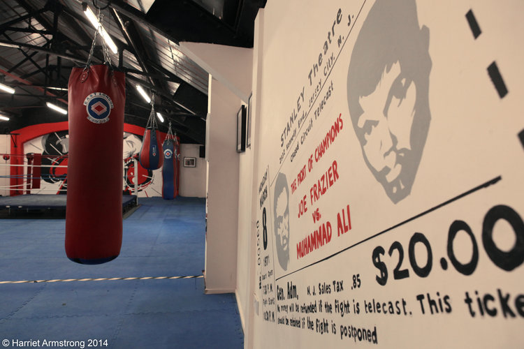 Revival Boxing mural Kong Studio Muhammad Ali