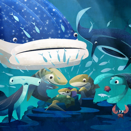 Finn the Fortunate Tiger shark thumbnail Kong Animation Studio