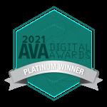 Platinum Award AVA Digital Awards